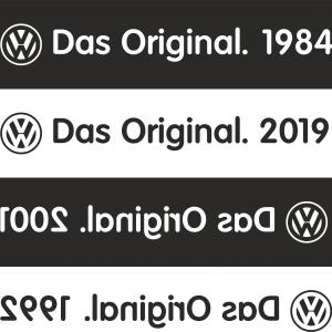 Volkswagen – Das Original Heckscheibenaufkleber